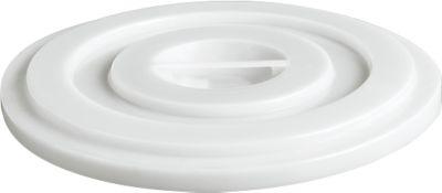 Deksel van HDPE, 35 liter, natuurkleur