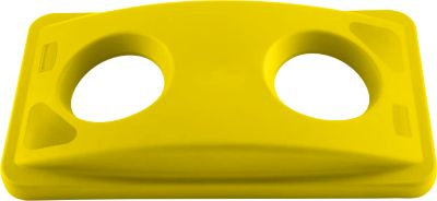 Deksel voor flesseninworp, voor Slim Jim® afvalcontainer, geel
