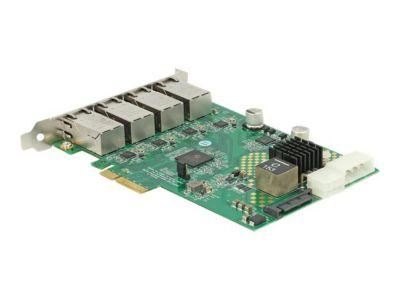 DeLOCK PCI Express Card > 4 x 1 Gigabit LAN PoE+ RJ45 - Netzwerkadapter