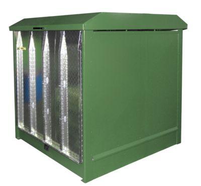 Depot voor gevaarlijke stoffen van het type GD-N/R4, groen RAL6011