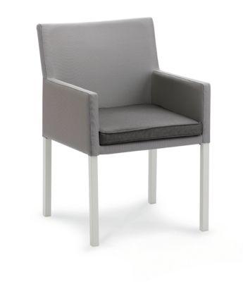 Design Dining-Sessel Tobago, wetterfest, Sensotex-Bezug, inkl. Sitzkissen, creme/taupe