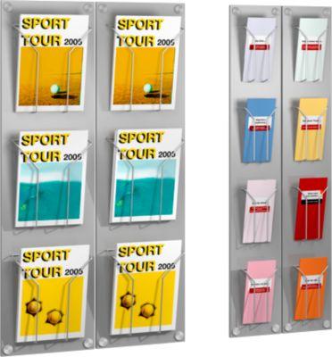 Design-Prospekthalter, DIN A4, 3 Fächer