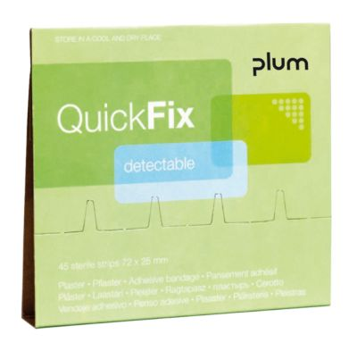 Detectable pleisters navulpak, voor QuickFix
