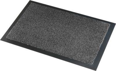 Deurmat Savane, met borsteleffect, B 1200 x L 2400, wasbaar, grijs, met borstel effect.