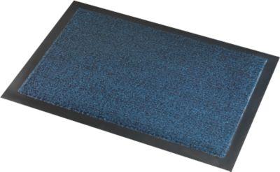 Deurmat Savane, met borsteleffect, B 600 x L 900 mm, wasbaar, blauw, met borstel effect.
