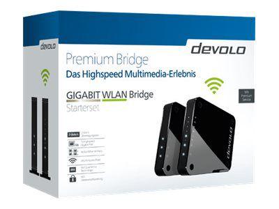 devolo GIGABIT WLAN - Starter Kit - Bridge - 802.11a/b/g/n/ac - Desktop