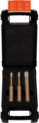Diamantboorset, zeskantige schacht, 3 bekboorhouders, 3 boorkoppen, 3 st.