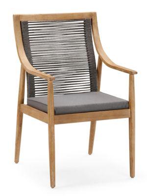 Dining-Sessel Barletta, inkl- Auflage mit Reißverschluss, B610xT670xH990 mm, Grandis/grau