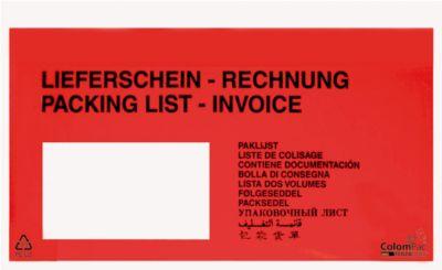 Document-enveloppen UNIPACK, DIN lang, Lieferschein-Rechnung
