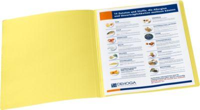 Documentenmappen, van karton 240 g/ m², voor A4 formaat, geel, 20 stuks