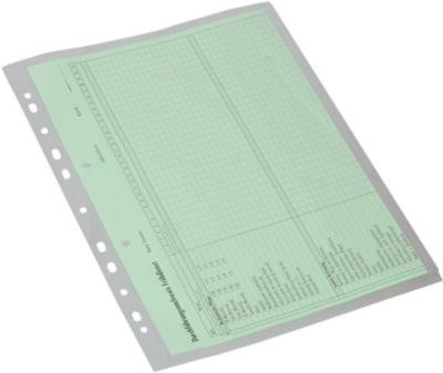 Dokumentenhüllen, DIN A4, Seitenklappe, 10 Stück