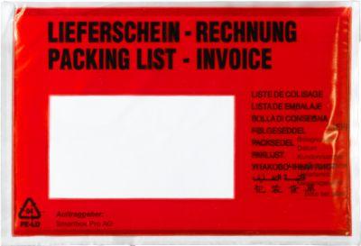 Dokumententaschen, DIN C5, 235 x 175, 1000 Stück, Lieferschein-Rechnung