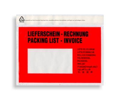 Dokumententaschen DIN C6, bedruckt, L 162 x B 133 mm