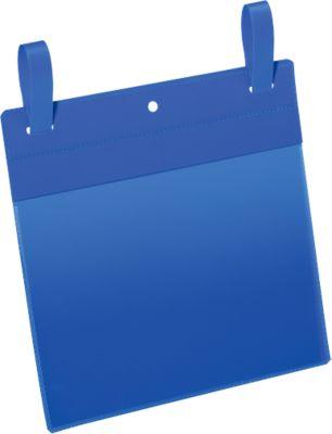 Dokumententaschen mit Lasche, B 210 x H 148 mm (A5 quer), 50 Stück, blau