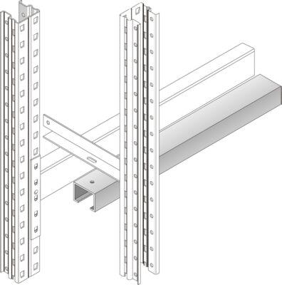 Doorschuifbeveiliging, gegalvaniseerd, doorzichtige baaibreedte 1900 mm, voor palletstelling PR