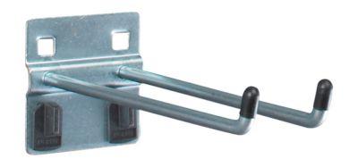Doppelhaken mit breiter Grundplatte, ø 6 x T 150 mm, 5 Stück