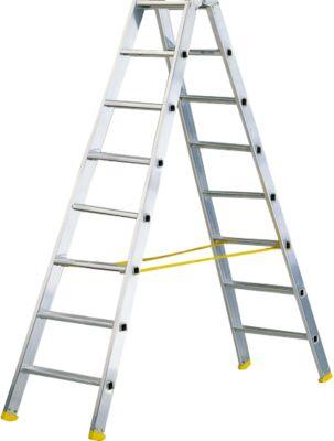 Doppelstufen-Stehleiter MEHRSI®, 8 Stufen, 12 kg