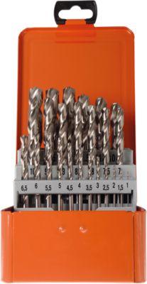 Draaiboorcassette Projahn Basic, 25 korte draaiboren, in metaalcassette, in een metalen cassette