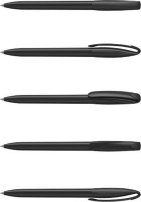 Drehkugelschreiber Klio-Eterna Boa, Kunststoff, high gloss schwarz