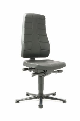Drehstuhl All-in-One 9640, mit Gleiter, Integralschaumpolster, schwarz