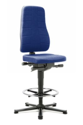 Drehstuhl All-in-One 9641, Stoffpolster, blau