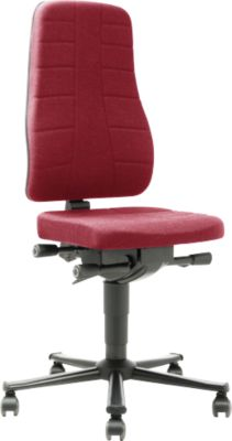 Drehstuhl All-in-One 9643, Stoffpolster, Duotec, rot