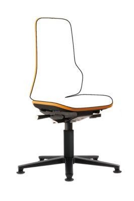 Drehstuhl Neon, Basis-Stuhl (ohne Polsterelement), Synchrontechnik, Gleiter, orange