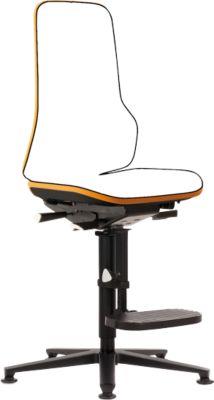 Drehstuhl Neon, Basis-Stuhl (ohne Polsterlement), Synchrontechnik, Gleiter/Aufstiegshilfe, orange