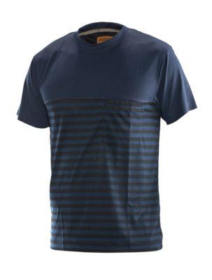 Dry tech t-shirt marine/schwarz S