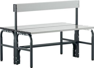 Dub. zitbank+RL, type G, staal/alu. 101
