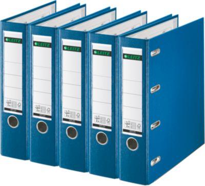 dubbele ordner 1012, A4, 75 mm, PP, blauw, 5 stuk