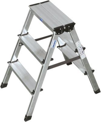 Duostep-trap van aluminium, 2x3 treden