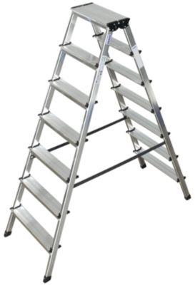 Duostep-trap van aluminium, 2x7 treden