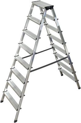 Duostep-trap van aluminium, 2x8 treden