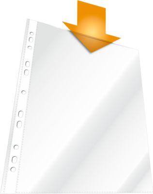 DURABLE BUSINESS PP Transparante showtassen,A4, boven open, glad, helder, 100 stuks