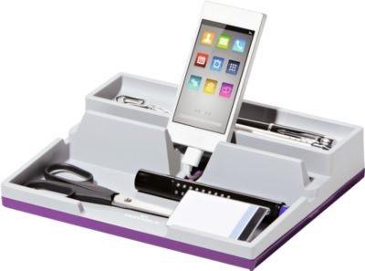 DURABLE Desk Organizer VARIOCOLOR® SMART OFFICE, grau/lila