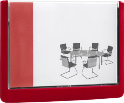 DURABLE deurbordje CLICK SIGN, 149 x 105,5 mm, rood, 5 stuks