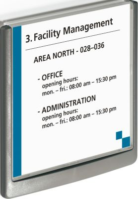 DURABLE deurbordje CLICK SIGN, 149 x 148,5 mm, grafiet, 5 stuks