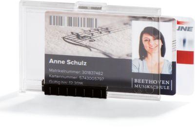Durable Kartenhalter Pushbox Duo, Kunststoff, für bis zu 2 Karten pro Kammer, 10 St.