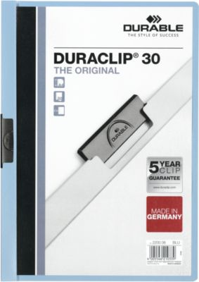 Durable Klemmap Duraclip Original 3 mm licht blauw