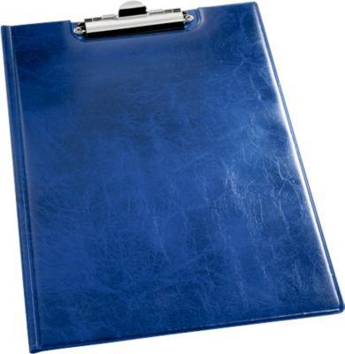 DURABLE Klemmbrett PREMIUMk, DIN A4, Lederoptik, blau