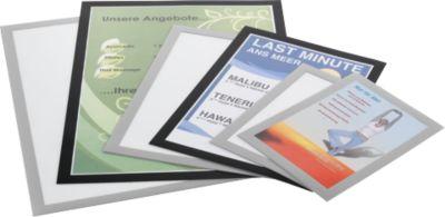 DURABLE Magaframe® Magneetlijsten, A5 formaat,  zilver, 10 stuks
