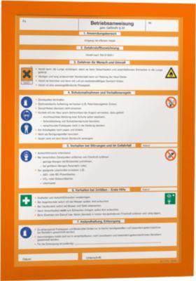 DURABLE magneetlijsten DURAFRAME®, A4 formaat, oranje, 2 stuks