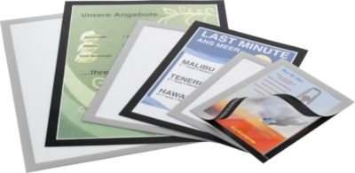 DURABLE magneetlijsten DURAFRAME®, A5 formaat, zwart, 10 stuks