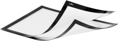 DURABLE Magneetlijsten DURAFRAME® MAGNETIC PLUS, A4, 2 stuks, zwart
