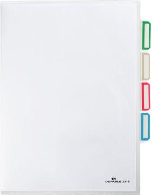 DURABLE  Organisationshülle, DIN A4, oben und seitlich offen, 5 Stück