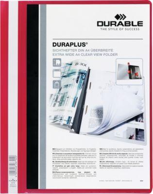DURABLE personaliseerbare snelhechtmappen DURAPLUS, 25 stuks, rood