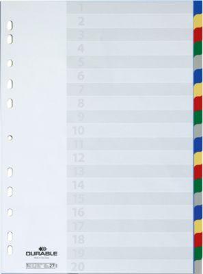 DURABLE PP-Register, 20 Blätter