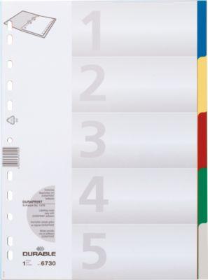 DURABLE PP-Register, 5 Blätter