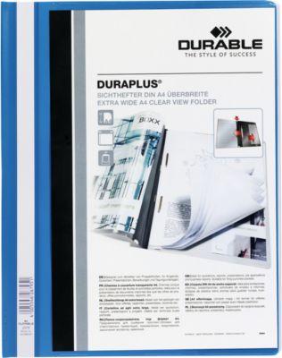 DURABLE Präsentations-Sichthefter DURAPLUS extrabreit, PVC-Hartfolie, 25 Stück, blau